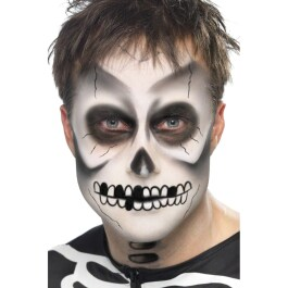 Halloween Schminke Skelett Make Up