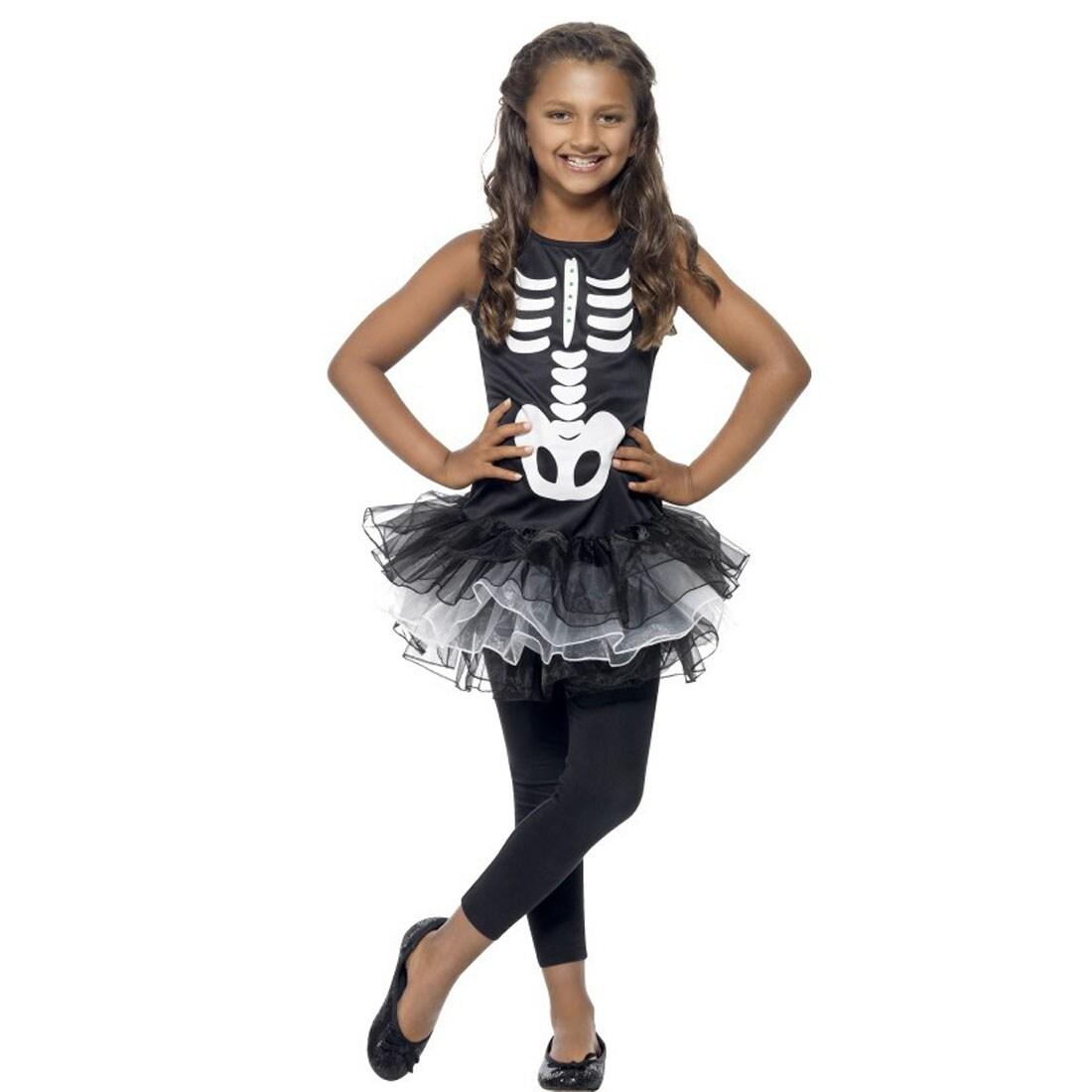 skelett kost m kinder skelettkost m gerippe kinderkost m tutu hallowe 20 95. Black Bedroom Furniture Sets. Home Design Ideas