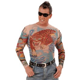 Tiger and Dragon Tattoo Shirt Sleeves Kostüm