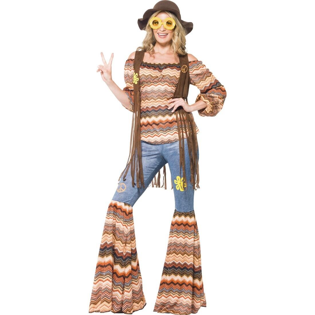 70er jahre outfit hippie kost m 60er jahre vintage hippiekost m flowe 41 99. Black Bedroom Furniture Sets. Home Design Ideas