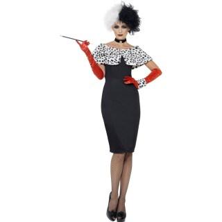 Dalmatiner Lady Damenkostum Cruella Kostum Bosewicht Filmkostum Bose